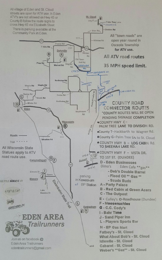 WI ATV club, Kettle Moraine ATV ociation Trail and Route Map Kettle Moraine State Park Map on valley of fire state park map, charlie daniels park map, moraine state park fishing map, moraine park campground map, world's end state park map, arkansas diamond state park map, alpine valley ski resort map, horicon state park map, pacific beach state park map, union grove state park map, devil's den state park map, milton state park map, bennett spring state park map, moraine state park hunting map, lake arthur moraine state park map, anza-borrego desert state park map, cumberland state park map, geneva lake state park map, moraine lake canada map, moraine view state park map,